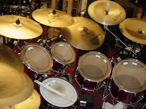 Chris Janus drum kit 2005